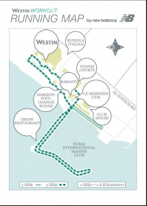 Westin Dubai Hotel Running Map