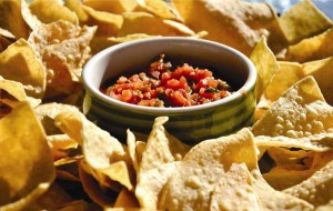 Baked Nacho with Salsa 75