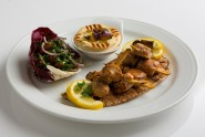 Chicken shish tawook Arabic bread and hummus LR (1)90