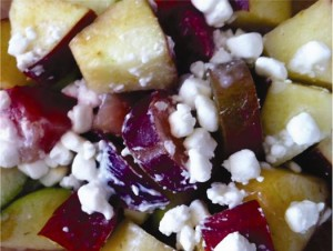 Mixed Fruit Salad with Cottage Cheese 75