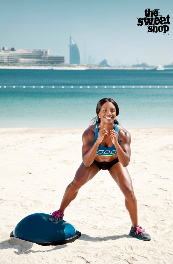Alternating power side jumps squats with bosu ball